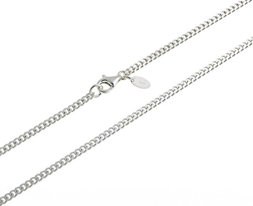 Kinder-Panzerkette, Kinderkette, 2,4mm Breite - Länge wählbar 32-37cm - echt 925 Silber