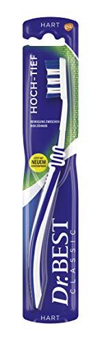 Dr. Best, Hoch-Tief Zahnbürste, Hart, für eine gründliche Reinigung zwischen den Zähnen mit geschwungenem Bürstenprofil, 1 Stk.