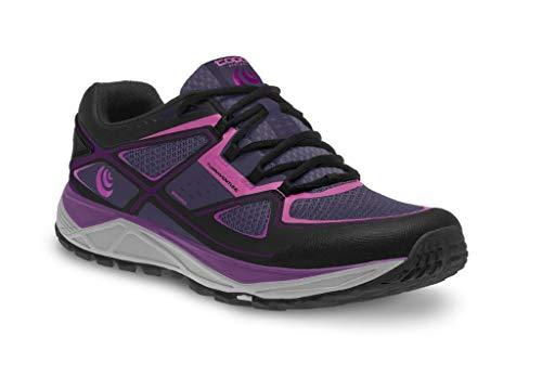 Topo Athletic TO16W181090, Zapatillas de Trail Running Mujer, Multicolor Lila Negro Lila Negro, 40.5 EU