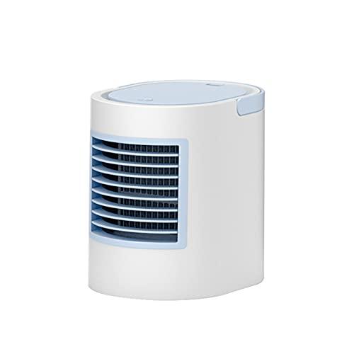 LXFTK Aire Acondicionado Mini Portátil, USB Recargable refrigerado por Agua Aire Acondicionado Ventilador Humidificación Aire Acondicionado Ventilador