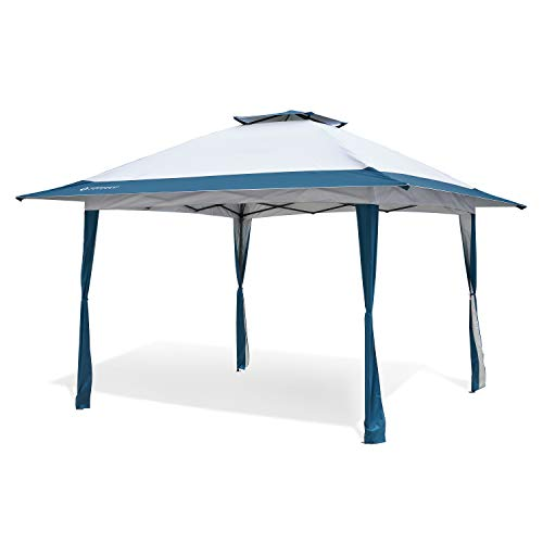 Arrowhead Outdoor 13'x13' Pop-Up Canopy & Instant Shelter, Easy One Person Setup, Water & UV Resistant 150D Fabric, Height Adjustable, Wheeled Carry Bag, Guide Ropes & Stakes Included, USA-Based