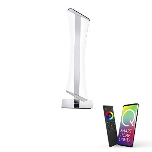Paul Neuhaus, LED Tischleuchte, Smart Home fähig, RGBW-Farbwechsel, warmweiß, inkl. Fernbedienung