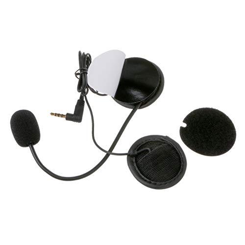 ihreesy 1 par Intercomunicador Bluetooth para Motocicleta, Auriculares para Casco de Motocicleta Auriculares Altavoz Sistema de Comunicación de Intercomunicación para Motocicletas con Toma de 3,5 mm