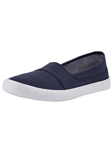 oodji Ultra Mujer Zapatillas Slip On Básicas de Algodón