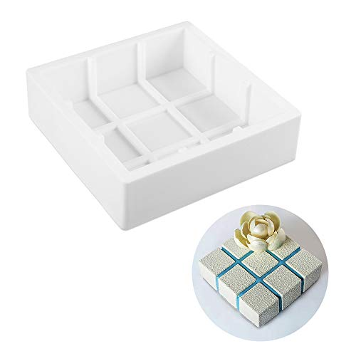 beicemania Grande boîte à gâteau carrée en Silicone 8 cm