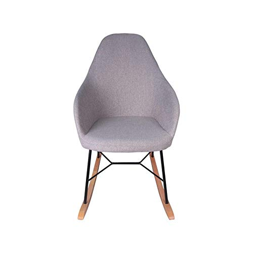 Fauteuil Rizo - Taupe - Schommelstoel - 105,5 x 62,5 x 88 - Stof