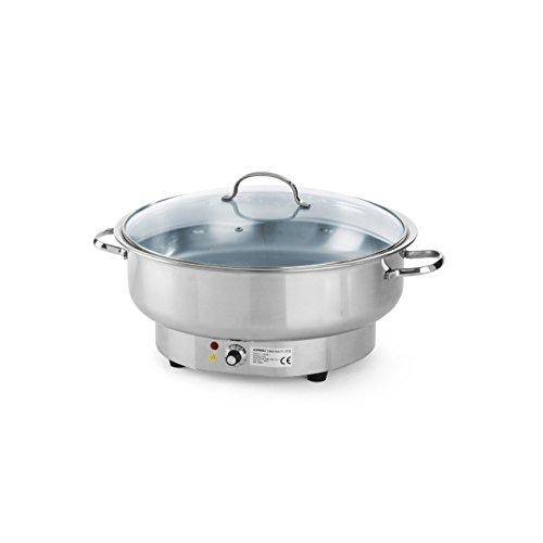Hendi 239902 Chafing Dish, Elektrisch Savoi, 6.8 L, Edelstahl