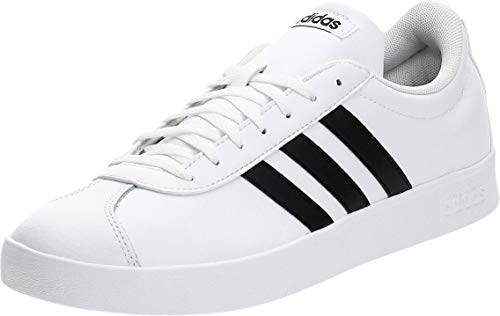 Adidas VL Court 2.0, Zapatillas para Hombre, Blanco (Footwear White/Core Black/Core Black 0), 45 1/3 EU
