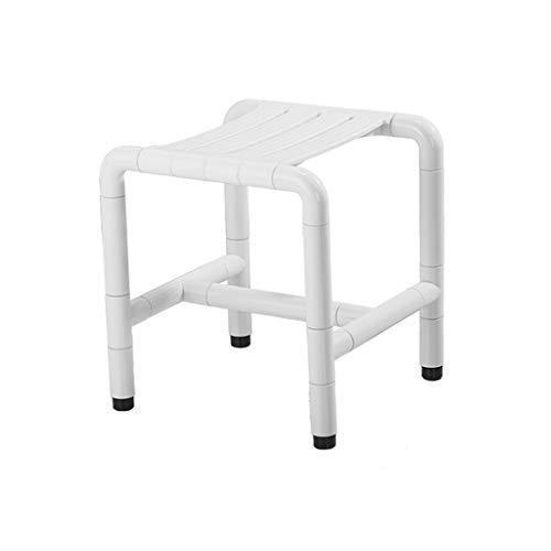 NYDZDM Taburete de ducha antideslizante de seguridad para baño, taburete de ducha y patas (color: blanco)