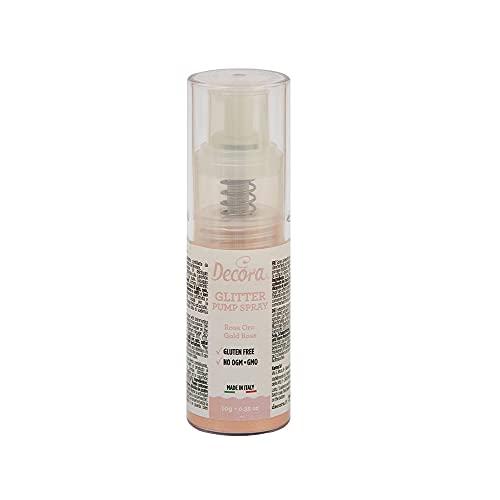 Decora 9261219 Spray Colorante Pump Glitterato Rosa Gold 10 G