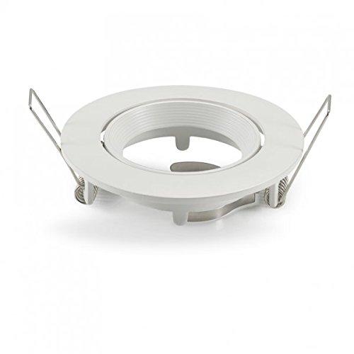 MR16 GU10 LED koplamp trimringen beslag witte legering verstelbaar voor 50mm LED en halogeen gloeilampen lampen