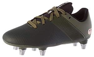 canterbury Boys' Phoenix 3.0 Plus Junior Soft Ground Rugby Boot, Deep Lichen Green/Black/Puffin'S Bill, 4 UK from Canterbury