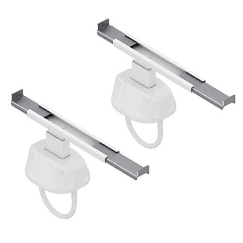 Par de ganchos para radiador - soportes para estandes da fijar al radiador - se adapta a radiadores tubulares con colectores de 45 mm a 60 mm de diámetro