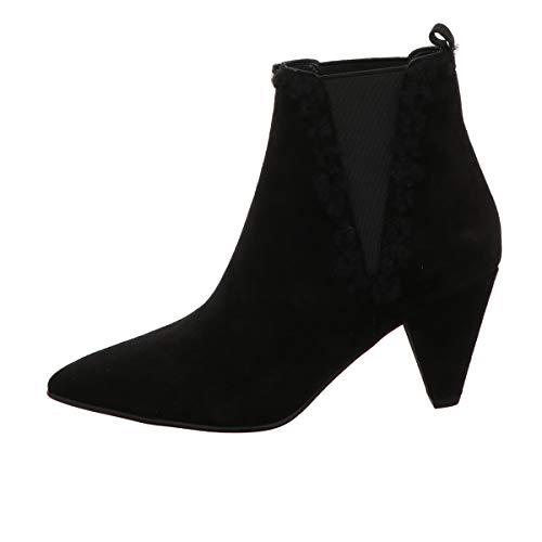 Kennel und Schmenger Chelsea-Stiefelette, Liz Velour Leder Schwarz Damen Schuhe > Damen Stiefeletten > Damen Stiefeletten Klassisch Größe 8