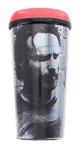 The Walking Dead Offizieller Kaffeebecher mit Rick Grimes #TeamRick Premium-Reisebecher, 473 ml