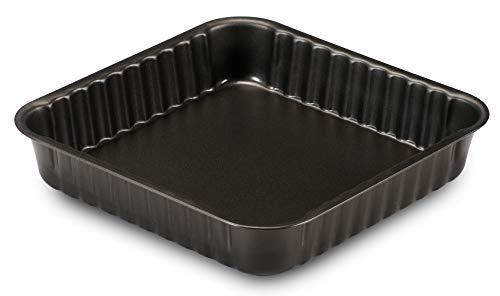 Formegolose 89524FG Quadratische Kuchenform (24 x 24 cm), Schwarz