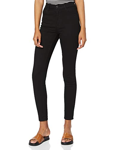 Wrangler High Rise Skinny Pantalones, Negro (Rinsewash 023), 26W / 30L para...