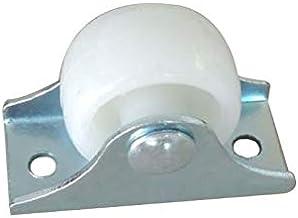Zwenkwielen 10 pièces blanc Rail roulettes fixes petite roue à sens unique meubles en plastique roue directionnelle matéri...