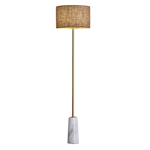 Busirsiz En la sala, hotel, dormitorio, lámpara de piso de mármol -Sala de estar vertical Interruptor Lámpara de cabecera de la tela Lámpara de pie Iluminación 158cm