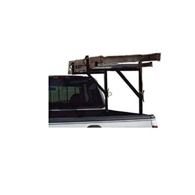 ALUMINUM 250lb Pickup Truck Ladder Rack Side Mount: BLACK