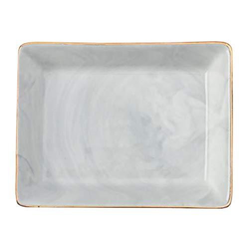 1 Pieza de cerámica, Plato de joyería, Plato, Anillos de marmoleo, Bandeja de Almacenamiento, decoración de Escritorio para Fiestas