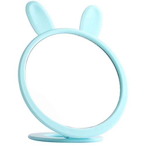 Miroirs Portable Pliant Carry Une Petite Dresser Style Princesse Livre Votre Bureau Cute Girl Coeur Dortoir D'étudiant (Couleur : Bleu, Taille : A)