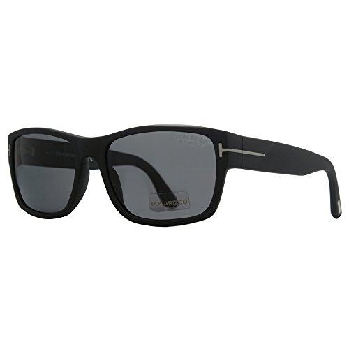 Unisex tom ford mason ft445 c58 2d polarisierten sonnenbrillen matt-schwarz l-xl