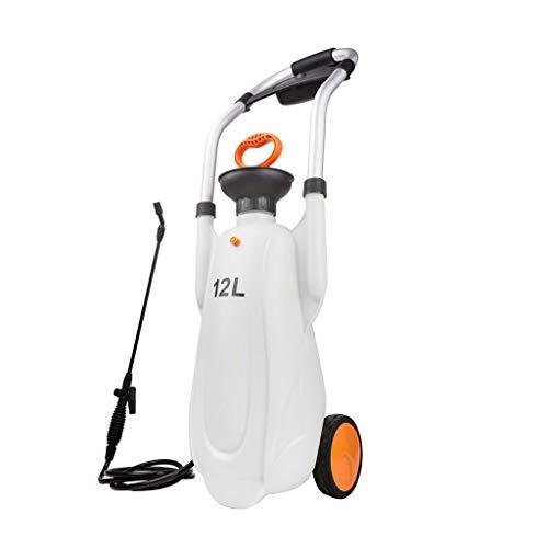 Xiaoli 12L de la Mano de Empuje de presión Pulverizadores Pulverizador de compresión de Aire Bomba de Mano de presión de pulverización Botella de Spray Jardín Accesorios (Color : White)