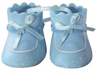 Blue Baby Booties for Cakes