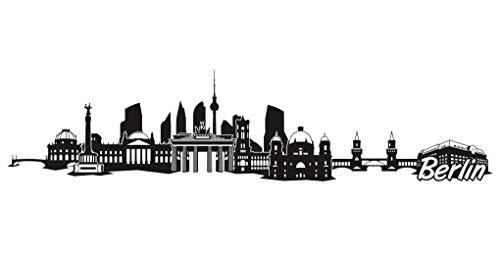 Samunshi® Berlin City Skyline Aufkleber Sticker Autoaufkleber Gedruckt in 7 Größen (30x7cm schwarz)