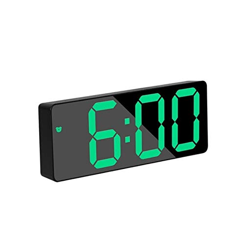 You can decorate a quiet room LED Alarm Clock, Acrylic/mirror Alarm Clock, LED Digital Clock, Voice Control, Snooze Time, Temperature Display Mode, Night (Colore : Green Acrylic Rec)