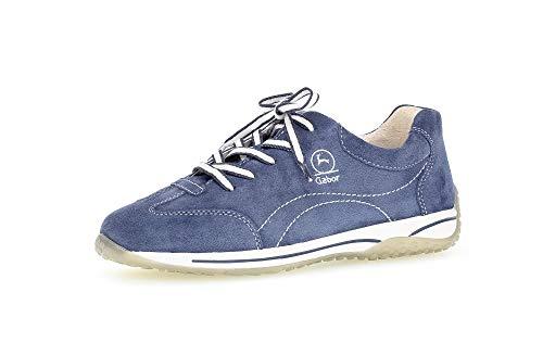Gabor Damen Sneaker, Frauen Sport-Halbschuhe,lose Einlage,Moderate Mehrweite (G),schnürschuhe,schnürer,Halbschuhe,weiblich,Jeans,39 EU / 6 UK
