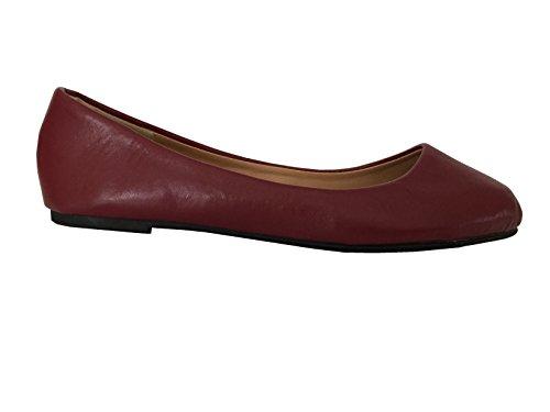 Zapatos 18básicas de Las Mujeres Punta Redonda Ballet Flats Zapatos