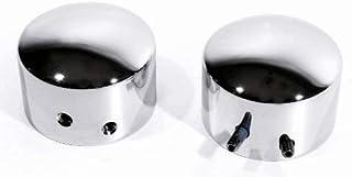 Achsabdeckungen Set vorne Chrom für Harley Achse Sportster Softail Dyna V Rod