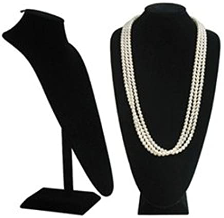 a3bbf250dff Amazon.com  Black Velvet Extra Tall Necklace Display - 18