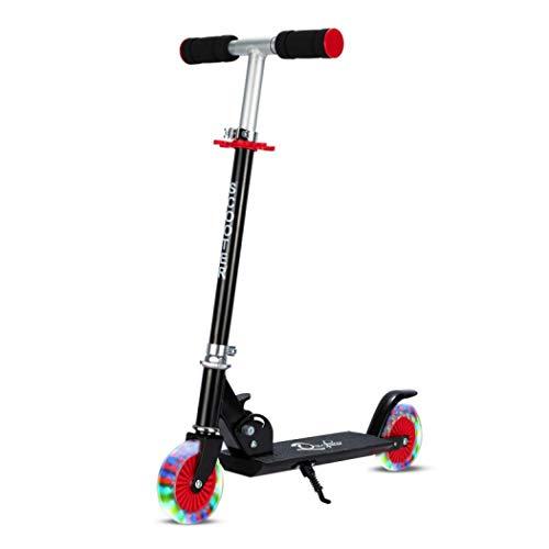 nsbs キックスクーター キックボード 子供用 スケートボード 折り畳み式 LED光るタイヤ ブレーキ付き スポーツ おもちゃ キックスクーター フトに最適 3?14歳子供向け 2輪 誕生日プレゼント (スタイル4)