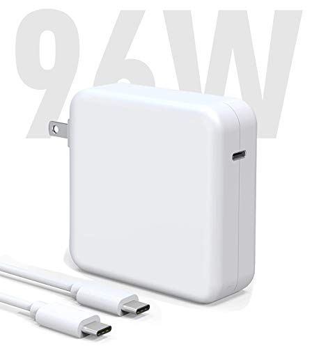 Mac Book Pro Charger, 96W USB C Charger Power Adapter Compatible with MacBook Pro 16, 15, 13 Inch, MacBook Air 13 Inch, iPad Pro 2021/2020/2019/2018 with 6.6ft USB C to C Cable