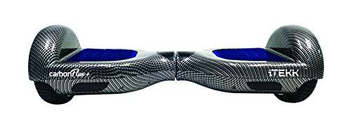 """Itekk Hoverboard 6.6 Carbon Fluo +, Assicurazione AXA """"Tutela Famiglia"""" inclusa, Blu Fluo"""