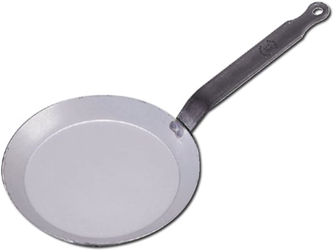 De Buyer Professional 26 Cm Carbone Plus White Iron Round Crepe And Pancake Pan 5120 26