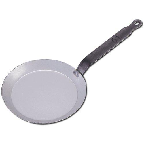 De Buyer Professional 30 cm Carbone Plus White Iron Round Crepe and Pancake Pan 5120.30
