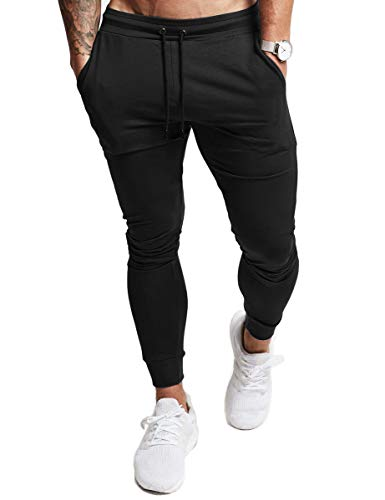 YKB Men's Gym Jogger Pants Sport Workout Training Slim Tapered Sweatpants Running Joggers For Men