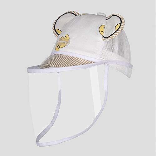 FUFU Gorros de aviador Niño de verano con los sombreros de Sun de TPU careta for el bebé con extraíble del verano del algodón de malla protectora sombrero al aire libre Sombrero de sol durante 1-3 año