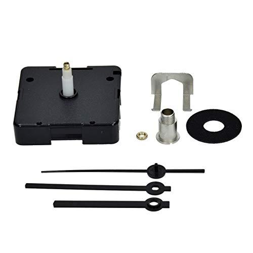 EFCO Kwarts 8 Onderdelen Klokwerk plus Klok Handen Voor Wijzerplaat Up, Zwart, 13 mm-P