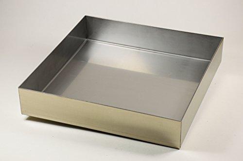 Edelstahl Wanne Ecken dicht verschweißt 400 x 400 x 50 mm Stärke 1 mm, Abtropfblech, Auffangwanne, Pflanzwanne