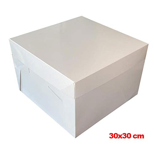 quadratisch 30,5/cm PackitUK Kuchenkarton mit Kuchenplatte