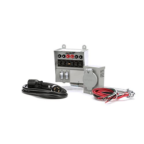 Reliance Controls Corporation 31406CRK 30 Amp 6-circuit Pro/Tran Transfer Switch Kit for Generators (7500 Watts).,Gray