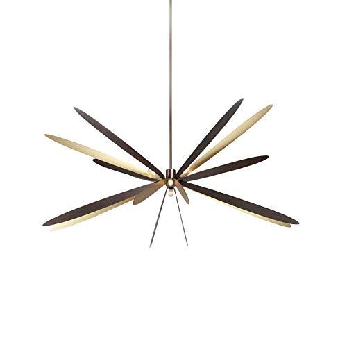 MAZ Arañas Artes Creativas Dragonfly Diámetro 80 * 70 cm Araña Dormitorio Sala de Estar Sala de Estar Lámpara Led Lámpara Cálida Luz Malista Moda Moderno Nórdico