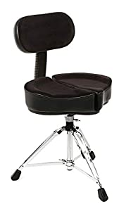 Ahead Spinal-G Drum Throne with Backrest - Black