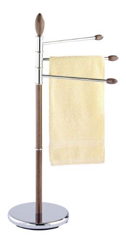 WENKO Toallero de pie Belingo - perchero, brazos flexibles, Acero, 53 x 94 x 28.5 cm, Cromo