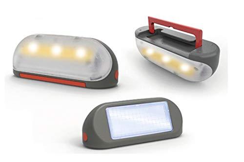 Smoby - Lampa solarna z uchwytem do noszenia – akcesoria do domku zabaw, zdejmowana lampa, oświetlenie wewnętrzne lub zewnętrzne, 3 diody LED i ogniwo słoneczne, dla dzieci od 2 lat
